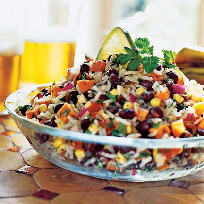 Black Bean, Rice, and Veggie Salad