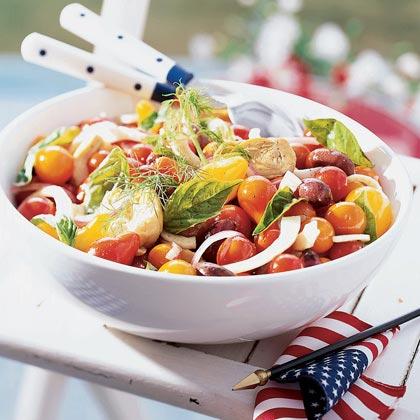 Artichoke, Fennel, and Tricolor Tomato Salad