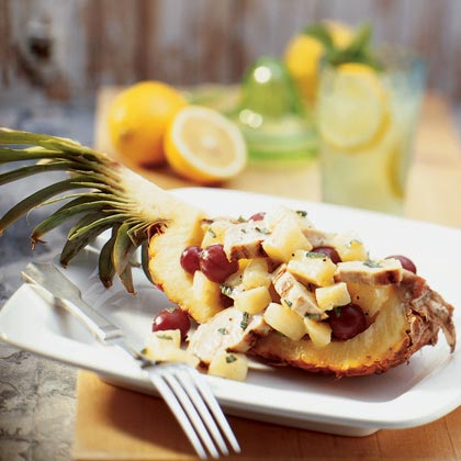 Chicken Salad in Pineapple Boats