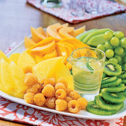 Composed Fruit Salad with Ginger-Lime Syrup