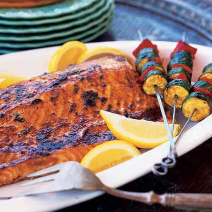 Grilled Salmon with Charmoula