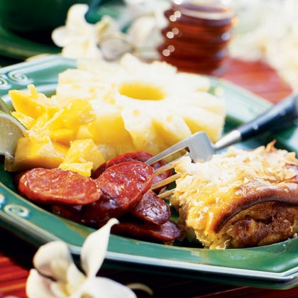 Oven-browned Portuguese Sausage Slices