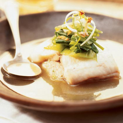 Pan-steamed Sole with Shrimp and Pork Hash