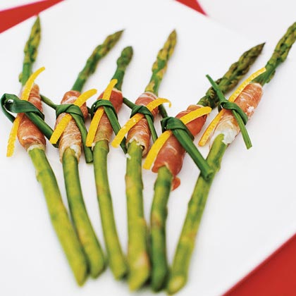 Prosciutto-Wrapped Asparagus with Citrus Dip
