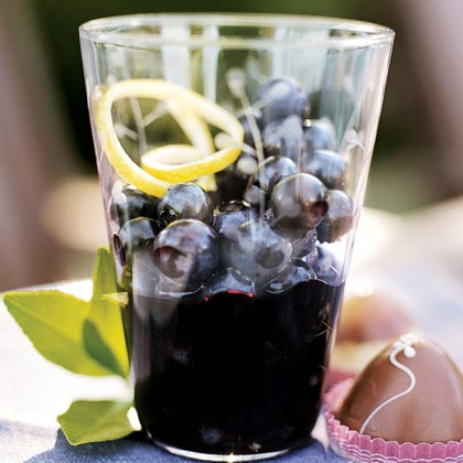 Blueberries in Black Pepper-Syrah Syrup