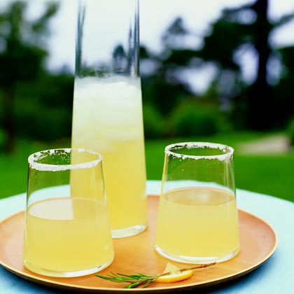 Ginger-Rosemary Lemon-Drop Cocktails