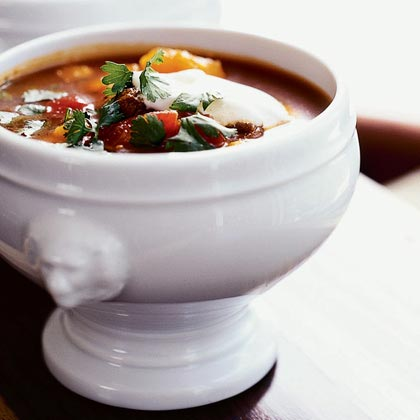 Mexican Beef And Hominy Soup Recipe Sunset Magazine