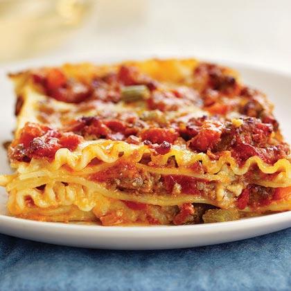 Lasagna with Sausage Ragù