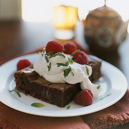 Dark Chocolate-Chunk Brownies