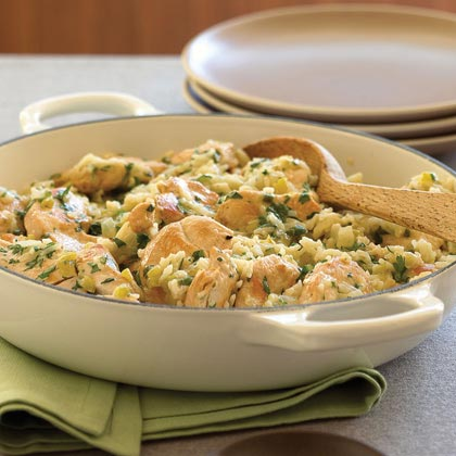 Chicken with Chile-Cheese Rice