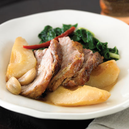 Braised Pork with Pears and Chiles