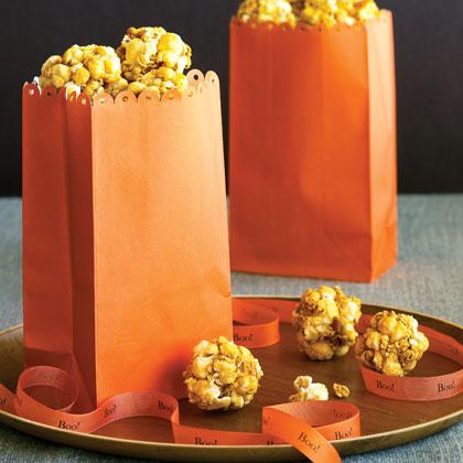 Bite-size Honey Popcorn Balls