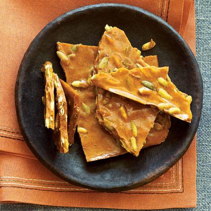 Cinnamon Pumpkin Seed Brittle