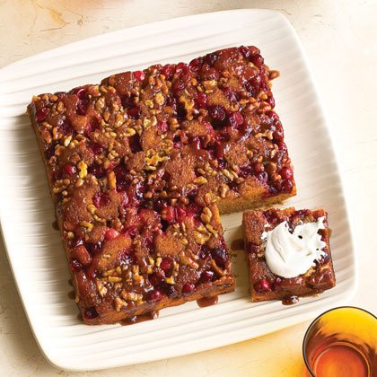 Cranberry Pumpkin Upside-down Cake