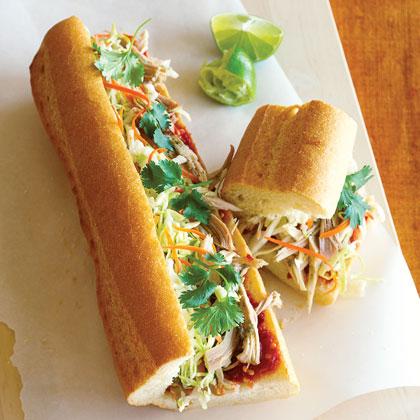 Vietnamese-style Turkey Subs