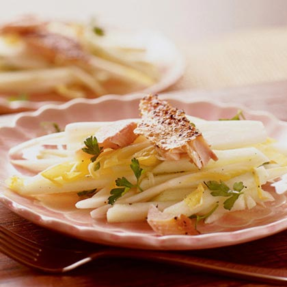 Endive-Apple Slaw with Smoked Trout