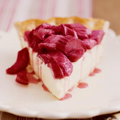 Rhubarb-Lemon Cream Pie