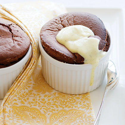Flourless Chocolate Soufflés