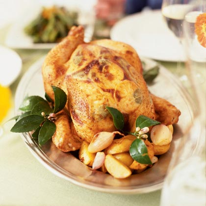 Roast Lemon Chicken with Shallots and Potatoes