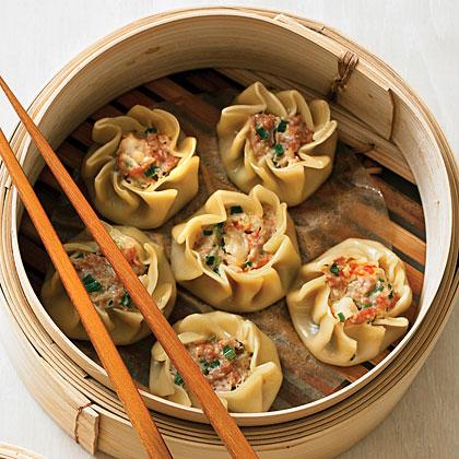 Pork and Shrimp Dumplings (Shu Mai)