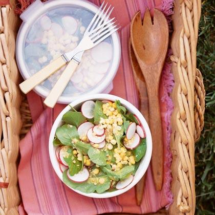Corn and Arugula Salad