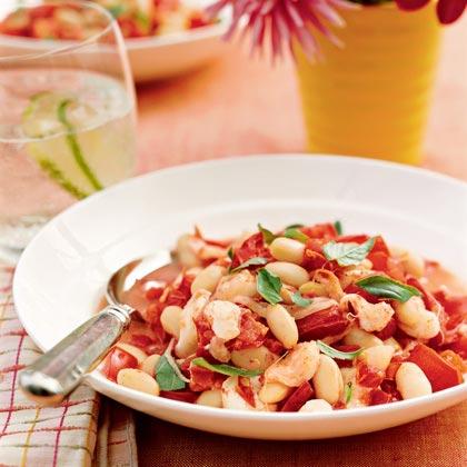 Warm Tomato and White Bean Stew