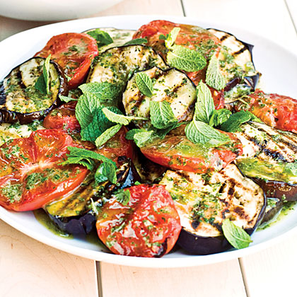 Grilled Eggplant and Tomato Salad