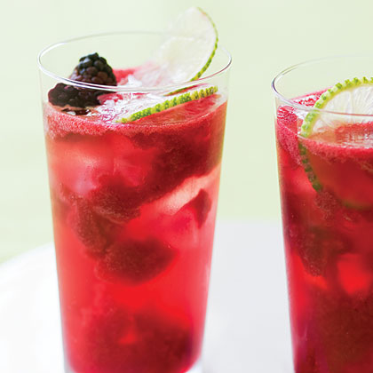 Blackberry Lime Rickeys