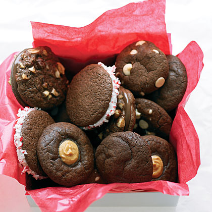 Chocolate Peanut Butter Thumbprint Cookies
