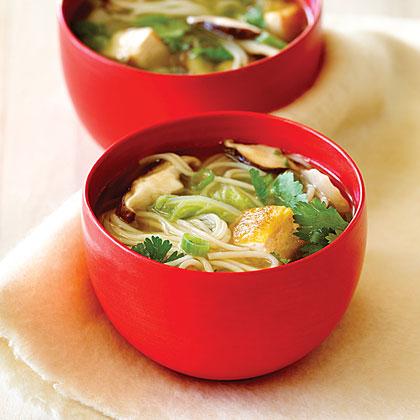 Shiitake Mushroom and Tofu Soup