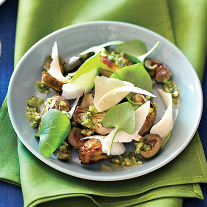 Roasted Baby Artichokes with Spring Salsa