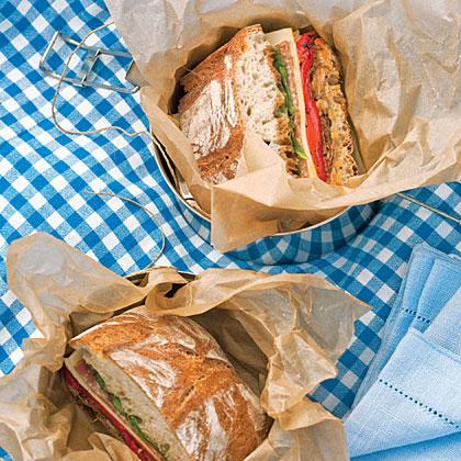 Radicchio, Roasted Pepper, and Provolone Ciabatta Sandwiches