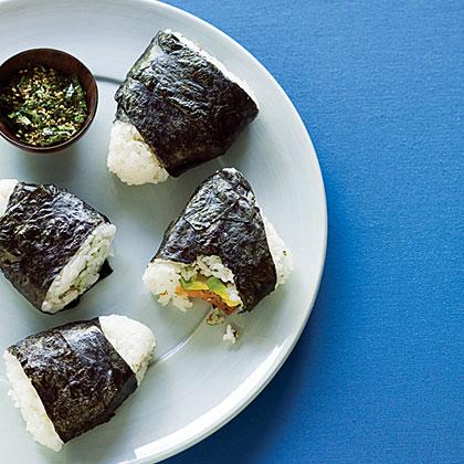 Smoked Salmon and Avocado Rice Triangles