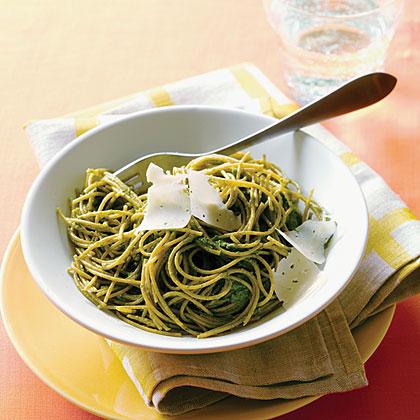 su-Swiss Chard Pesto Pasta