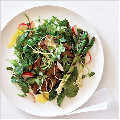 su-Grilled Beef and Spring Onion Salad