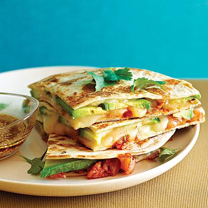 su-Kimchi and Avocado Quesadillas