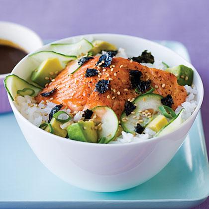 su-Simple Salmon Chirashi