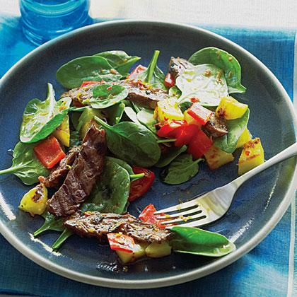 su-Brazilian Grilled Steak Salad
