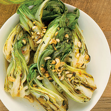 su-Spicy Garlic Grilled Baby Bok Choy