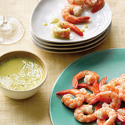 su-Poached Shrimp with Meyer Lemon Ginger Sauce