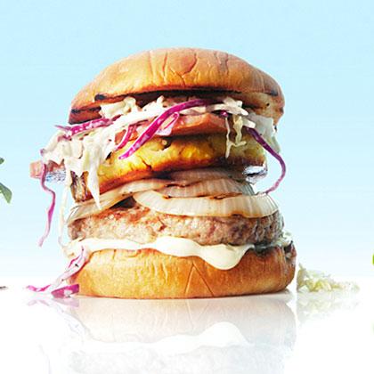 su-Hawaiian Pig-Out Burgers
