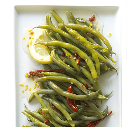 su-Spicy, Crunchy Pickled Green Beans with Lemon