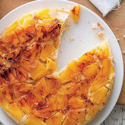 su-Coconut and Fresh Pineapple Upside-Down Cake