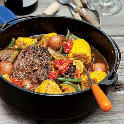 Dutch Oven Braised Beef And Summer Vegetables Recipe Sunset Magazine