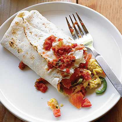 su-Smoked Salmon Breakfast Burrito
