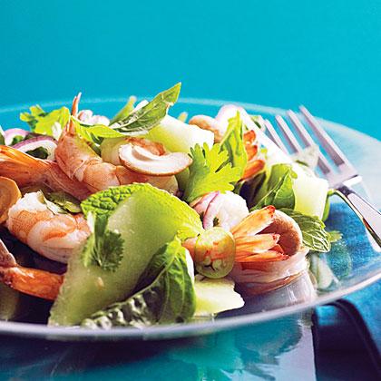 su-Vietnamese Shrimp and Green Melon Salad