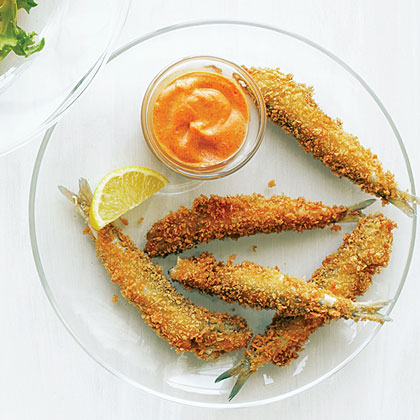 su-Anchovy Fries with Smoked Paprika Aioli