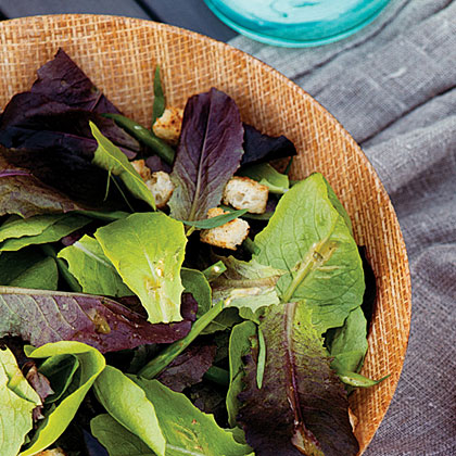 su-Green Bean Caesar Salad with Baby Romaine Lettuces