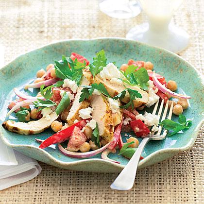 su-Grilled Chicken Greek Salad
