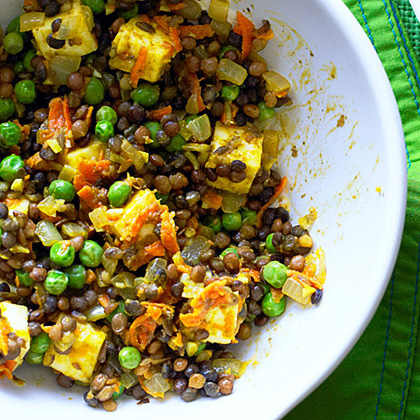 su-Curried Lentils with Paneer